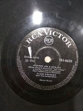 "ELVIS PRESLEY wooden heart/puppet on string INDIA RARE 78 RPM RECORD 10"" G+"