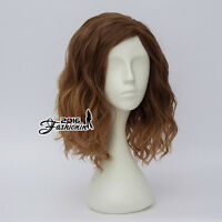 35CM Party Lolita Curly Women Brown Ombre Medium Hair Cosplay Wig Heat Resistant