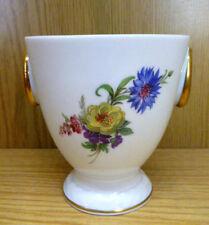 Pokal Blumen Übertopf AK Kaiser Porzellan Gloria Hand bemalt H11,5cm