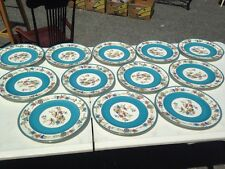 12 Gold Accent Bailey Banks Biddle Plates China -France Patented BEAUTIFUL!!