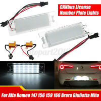 LED Canbus License Number Plate Light For Alfa Romeo 147 156 166 MiTo Giulietta