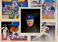 Dodgers Union 76 Portraits LOT of 34 Tom Lasorda, Sandy Koufax, Vin Scully ~MINT