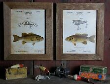 Bass Fishing Patent Art Prints (Set of 2) 8x10 Unframed Largemouth  Small SET01