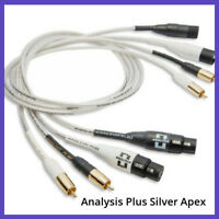 Analysis Plus Silver Apex Interconnect Cables, PAIR, 1.0 Meters, XLR-XLR