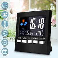 LCD Digital Weather Station Multi-function Thermometer Hygrometer Alarm Clock