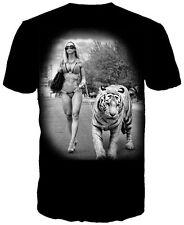 GET DOWN ART GLAMOUR TIGER T-shirt GDA Daveed Benito Tee Mens 2XL XXL Black New