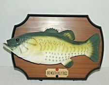 New listing Vtg Big Mouth Billy Bass Singing Fish 1999 Gemmy Motion Activated Plaque Works