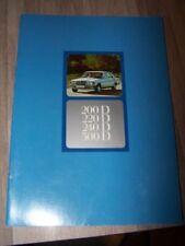 D6 - Prospectus/Brochure/Catalogue Mercedes benz W123 200 220 240 300 D
