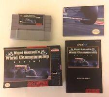 Nigel Mansell's World Championship Racing  Super Nintendo 1991 SNES RARE POSTER