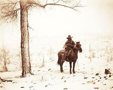 OLD WEST WYOMING COWBOY VINTAGE PHOTO STRAY CALF 1889 8x10  #21673