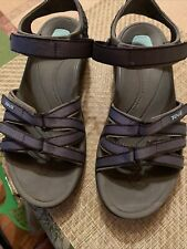 TEVA Women's Tirra Sport Sandals Blue Gray  8
