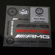 10 Pcs Sets High Quality AMG Sports Badge Decal Emblems Sticker Universal Fit