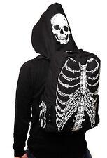 Skull Skeleton Printed Bag School Book Bag Gothic Punk With Hat Hoodie Bag Gift