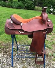 "Blue Ridge 19"" Chestnut Western Saddle"