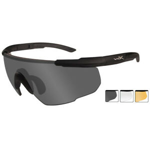 Wiley X Saber Advanced Glasses 3 Spare Shatterproof Uv Lenses Matte Black Fram