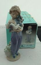 1989 Retired Lladro My Buddy #7609 Society Porcelain Figurine With Box