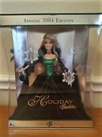 2004 SPECIAL COLLECTORS EDITION HOLIDAY BARBIE MATTEL #B5848 Green Velvet Dress