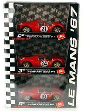 1/43 Brumm PSR3 L/E Ferrari 330 P4 3 Car Set 1967 Le Mans #19/21/24: Mint Boxed