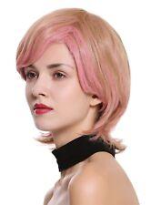 PERRUQUE pour femme court arrière Long Ondulé Blond Châtaigne rose Mélange SA099