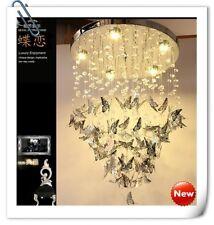 Modern Art Butterfly Crystal Chandelier LED Pendant Lamp Ceiling Lighting