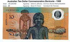 1988 AUSTRALIAN BICENTENARY TEN DOLLAR $10 POLYMER NOTE