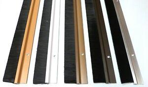 Draught Excluder Aluminium Metal Bottom Door Brush Sweep Seal Strip
