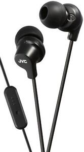 JVC FR15 Black In-Ear Stereo Headphones with Remote and Microphone