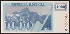 SLOVENIA 1000 (Tolarjev) 1991 - UNC-