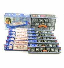 Super Hit + Blue Satya Nag Champa Incense Sticks: Lot of 12 x 15 Gram Boxes 180g