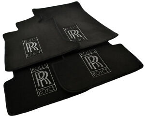 Floor Mats For Rolls Royce Ghost 2010-2019 Tailored Carpets With RR Emblem LHD