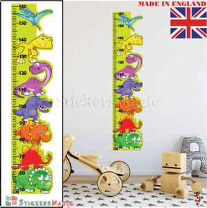 Dinosaur Height Chart Wall Sticker Measure Kids Boys Childrens Art Ruler Growth