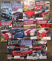 (Lot of 11) 2011 Mustang Monthly Magazine Shelby Cobra Boss FREE SHIPPING