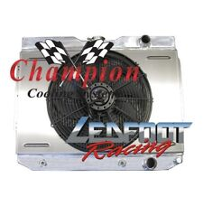 "1960-1965 4 Row Chevy Biscayne Champion Cooling Radiator With Shroud & 16"" Fan"