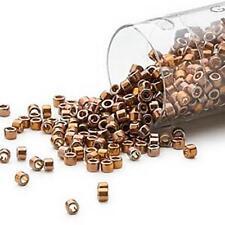 DB0506 Miyuki Delica Seed Beads #11 4g 24KT Rainbow Black *UK EBAY SHOP*