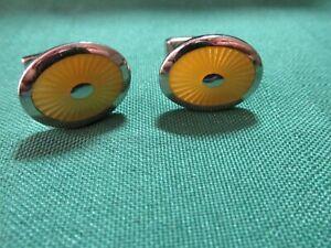T.M. Lewin enamel cufflinks Yellow