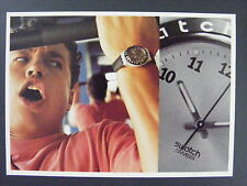 Swatch Banquise Mens Watch Swiss Color Promo Advertising Postcard 1997