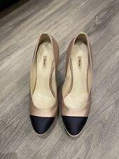 Genuine Miu Miu Black & Rose Luxury Heels Size 38