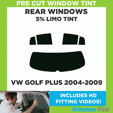 Pre Cut Window Tint - VW Golf Plus 2004-2009 - 5% Limo Rear
