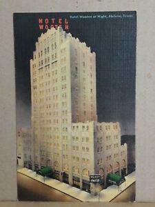 Linen Postcard 12064F Hotel Wooten at Night, Abilene, Texas Unposted