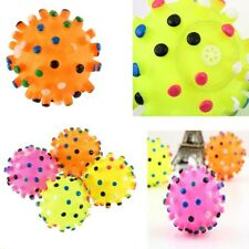 """2.5"""" Pet Squeaker Ball Squeaky Sound Toys Cat Dog Puppy Training Chew Play Toy"""