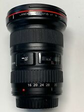 CANON EF 16-35MM 2.8L ZOOM LENS AUTOFOCUS ULTRASONIC TESTED WORKS GREAT & FILTER