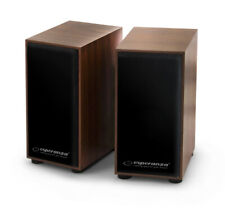 PC Lautsprecher Holz 2.0 6W Notebook Speaker Boxen Box USB laptop Wooden Holzbox