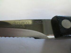 """Cutco Brown Swirl Handle #1721 JC 10"""" Serrated Knife"""
