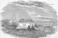 TURKEY. Crimean War. Armenian Cemetery, nr Istanbul, antique print, 1856