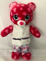"""Build a Bear Pink Bear with Hearts Talking """"I Love You"""" 16"""" BABW"""