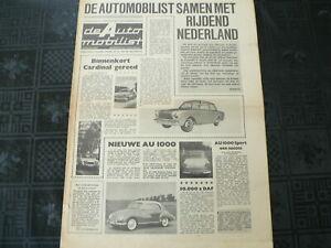 DE AUTO MOBILIST 1962 NO 32 AUTO UNION 1000,DKW JUNIOR,GRONINGEN KAAPSTAD,BAKKER