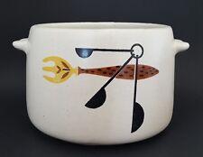 Vintage West Bend Stoneware Crock Bean Pot Utensil Holder
