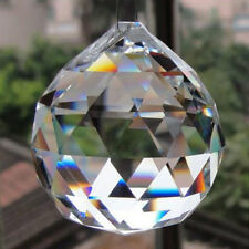 2pcs Feng Shui Hanging Crystal Ball 20Mm Sphere Prism Faceted Sun Catcher Clear