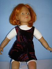 """Handmade Justaucorps & jupe ideal for AMERICAN GIRL 18"""" Fashion poupée rouge feu d'artifice"""