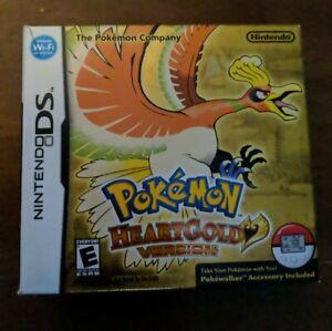 Nintendo DS Pokemon HeartGold Big Box, Case, Manuals Poke-Walker w/insert No Gme